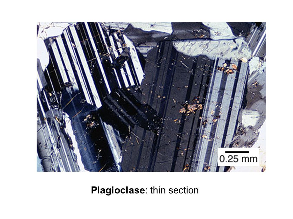 Plagioclase: thin section