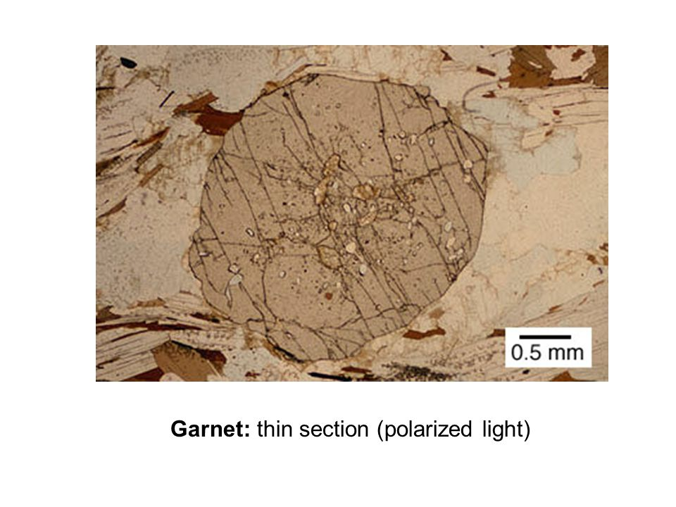 Garnet: thin section (polarized light)
