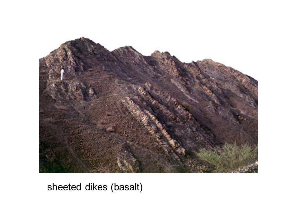 sheeted dikes (basalt)