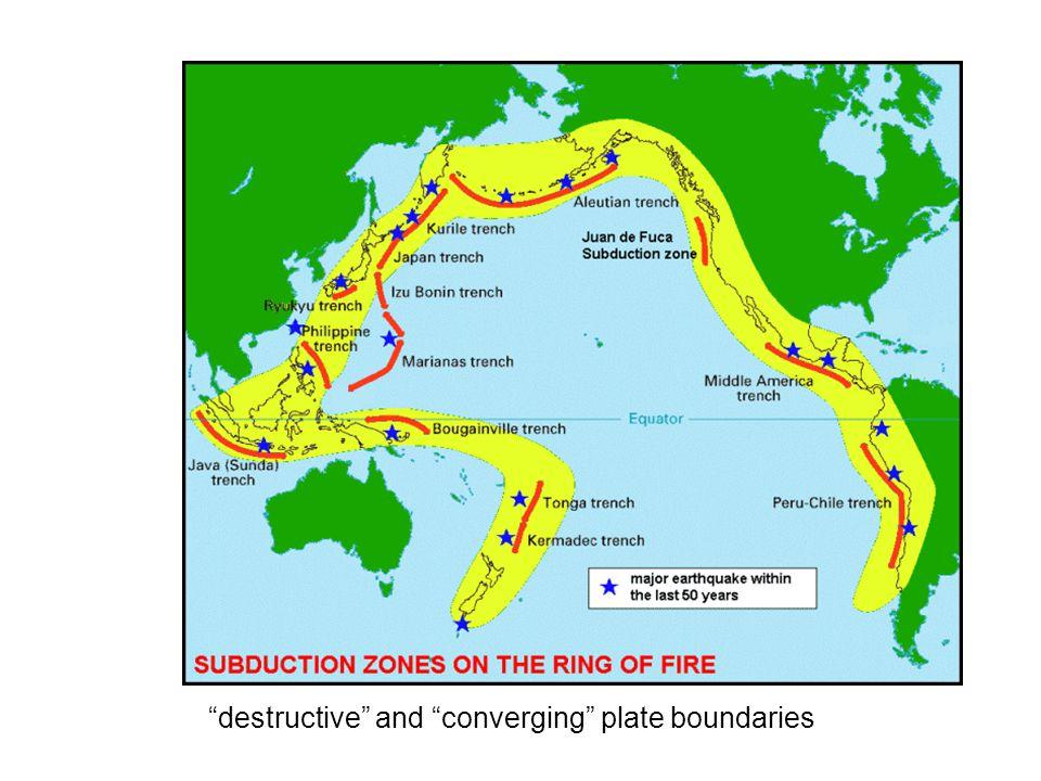 """destructive"" and ""converging"" plate boundaries"