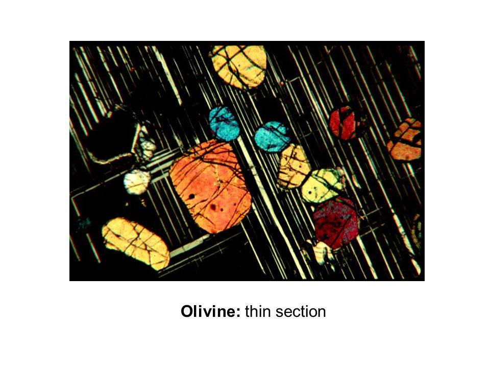 Olivine: thin section