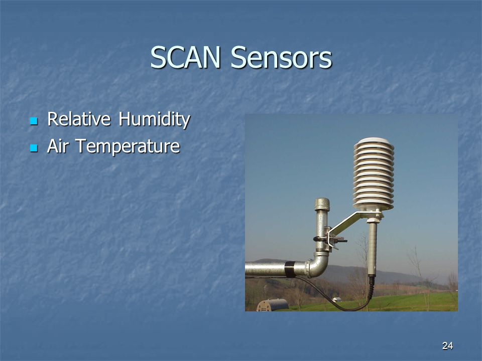24 SCAN Sensors Relative Humidity Relative Humidity Air Temperature Air Temperature