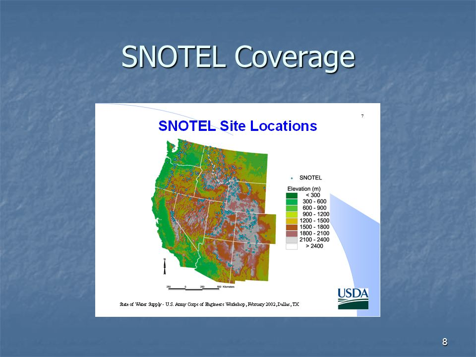 8 SNOTEL Coverage