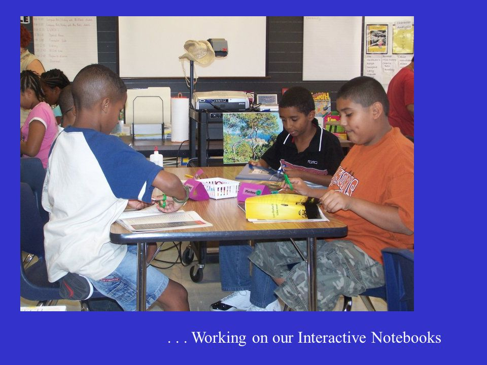 ... Working on our Interactive Notebooks