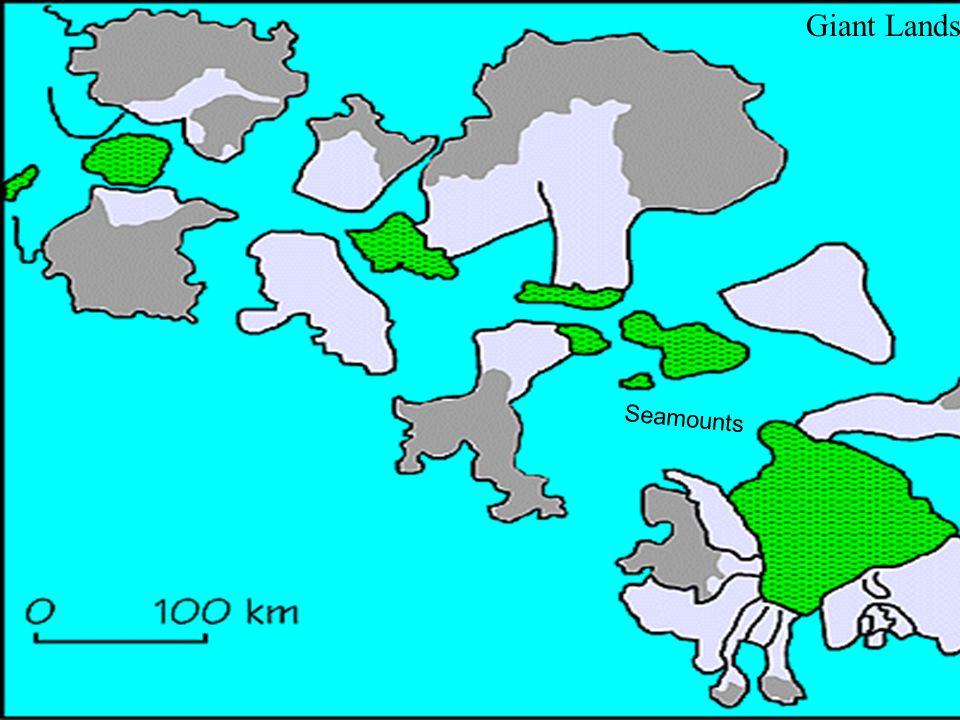 Giant Landslides Seamounts