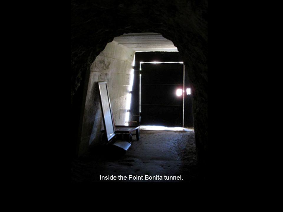 Inside the Point Bonita tunnel.