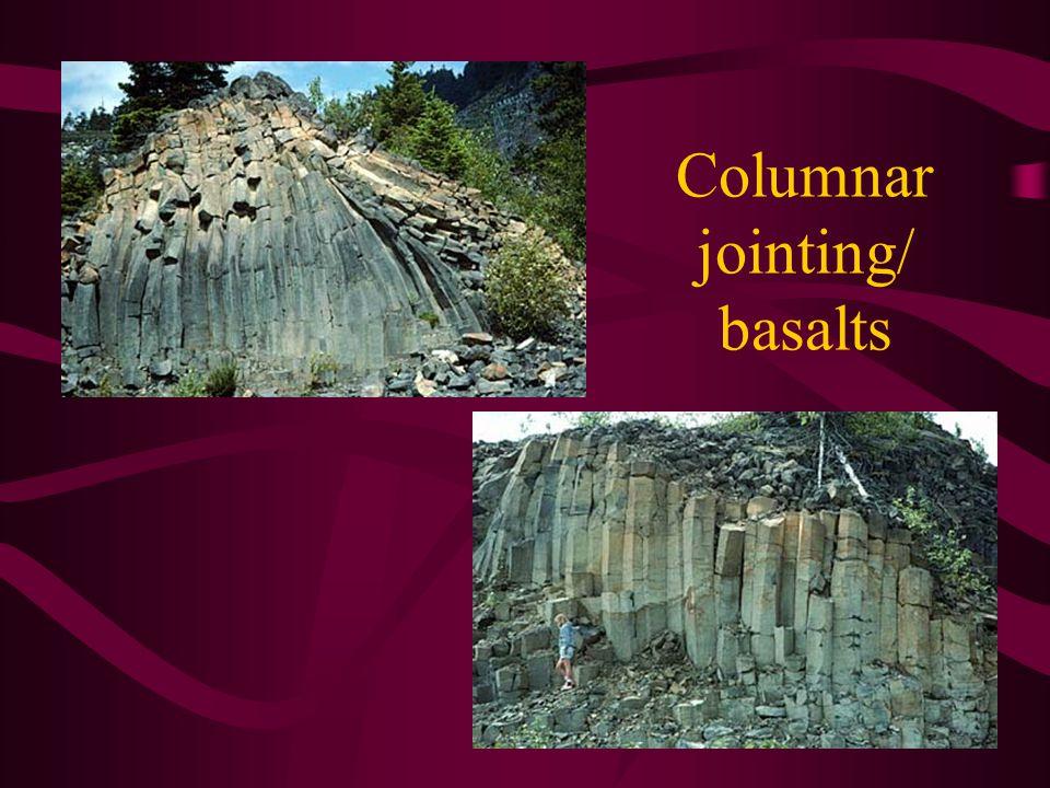 Columnar jointing/ basalts