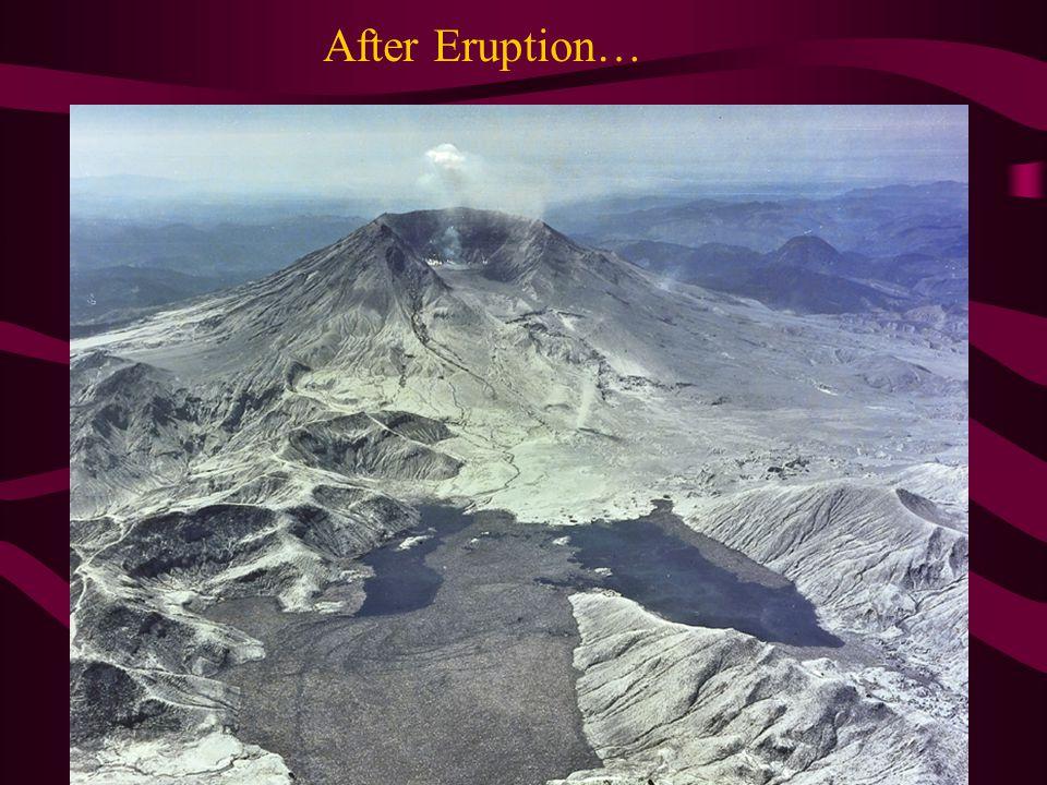 After Eruption…
