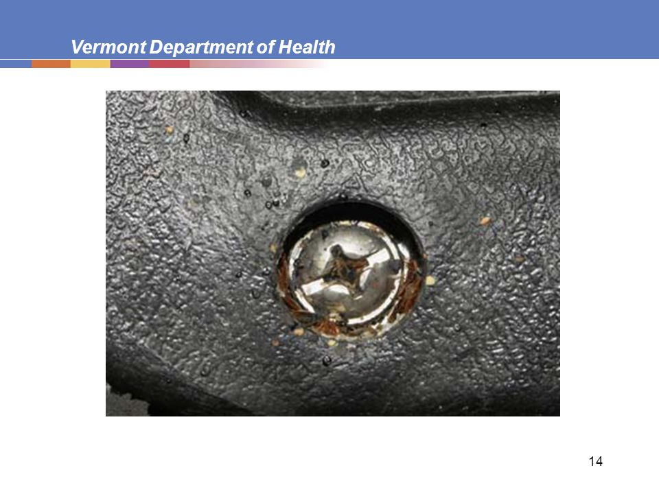 Vermont Department of Health 14