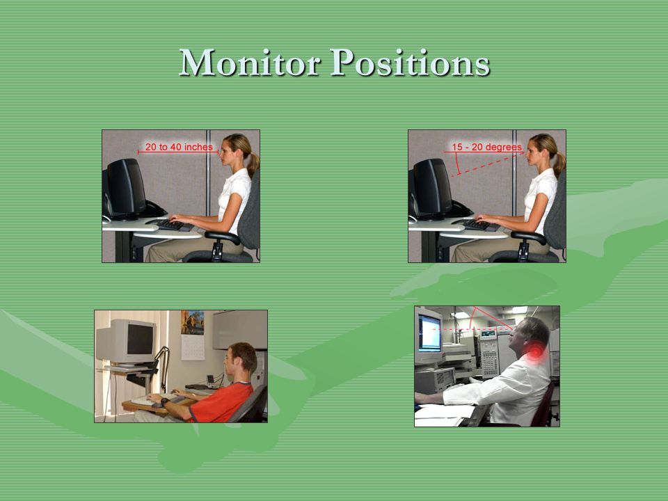 Monitor Positions