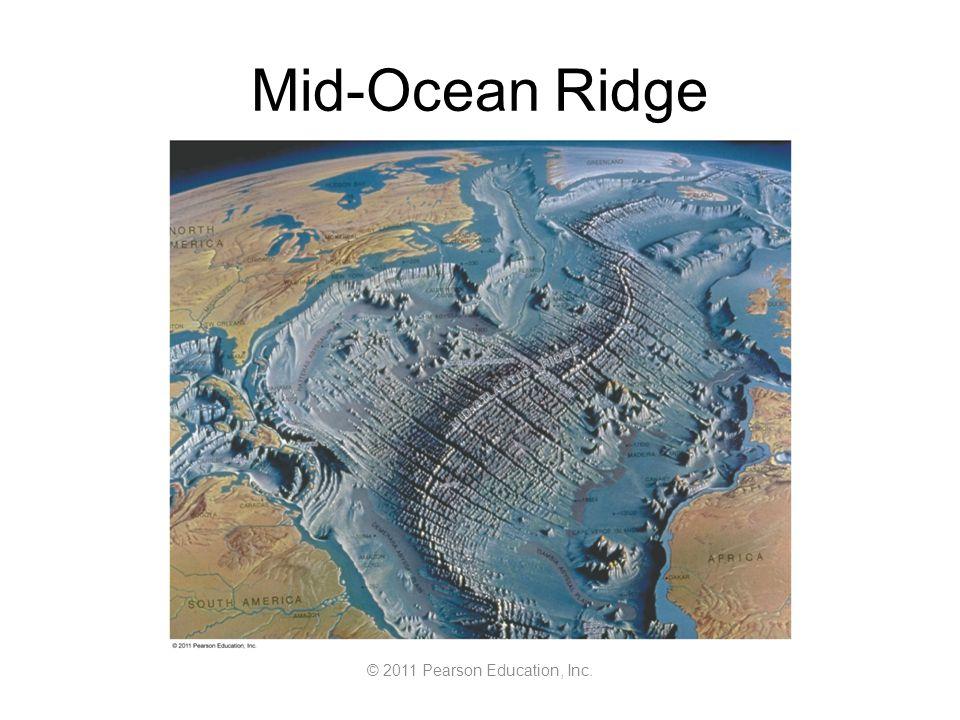© 2011 Pearson Education, Inc. Mid-Ocean Ridge