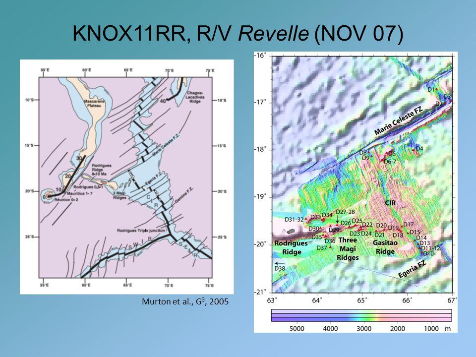 Murton et al., G 3, 2005 KNOX11RR, R/V Revelle (NOV 07)