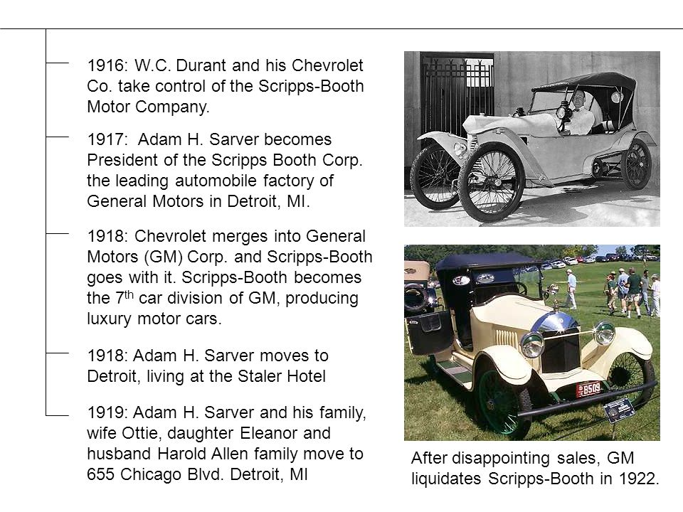 1918: Chevrolet merges into General Motors (GM) Corp.