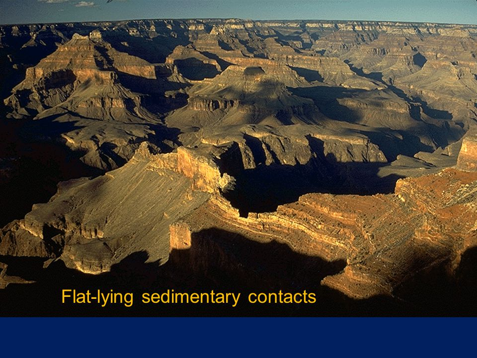 Flat-lying sedimentary contacts