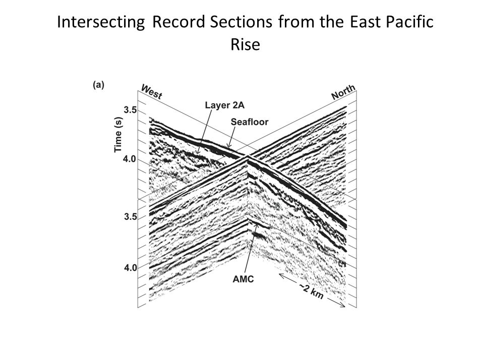 Intersecting Record Sections from the East Pacific Rise