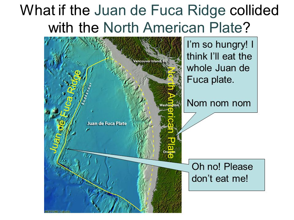 What if the Juan de Fuca Ridge collided with the North American Plate.