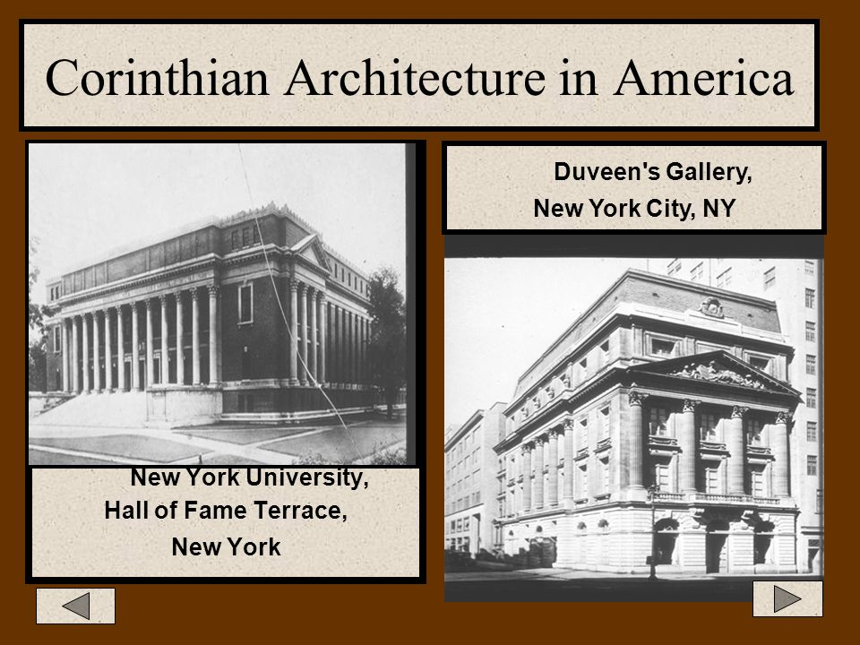 Corinthian Architecture In Corinthian columns: On the architrave, as in Ionic temples, there is a continuous frieze where the triglyphs and metopes wo