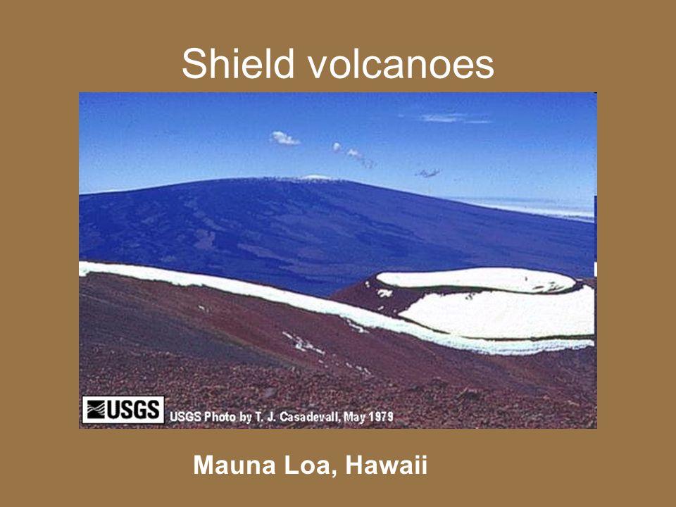 Shield volcanoes Mauna Loa, Hawaii