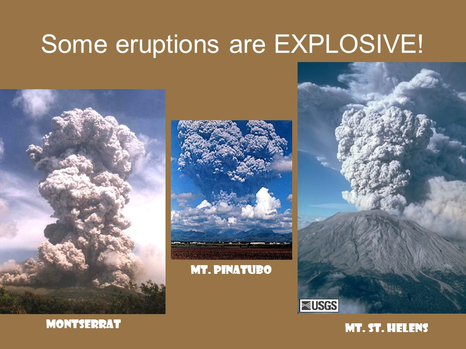 Composite Volcano (aka stratovolcano) most beautiful, but most deadly characteristic shape made of alternating layers of lava and tephra- periods of quiet, then explosive eruptions Mt.
