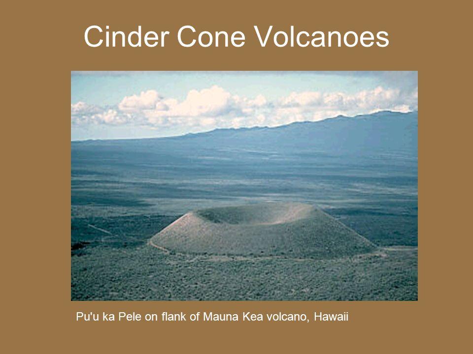 Cinder Cone Volcanoes Pu'u ka Pele on flank of Mauna Kea volcano, Hawaii