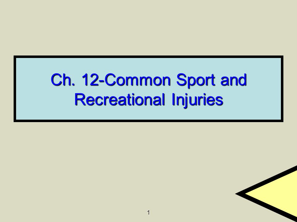 1 Ch. 12-Common Sport and Recreational Injuries