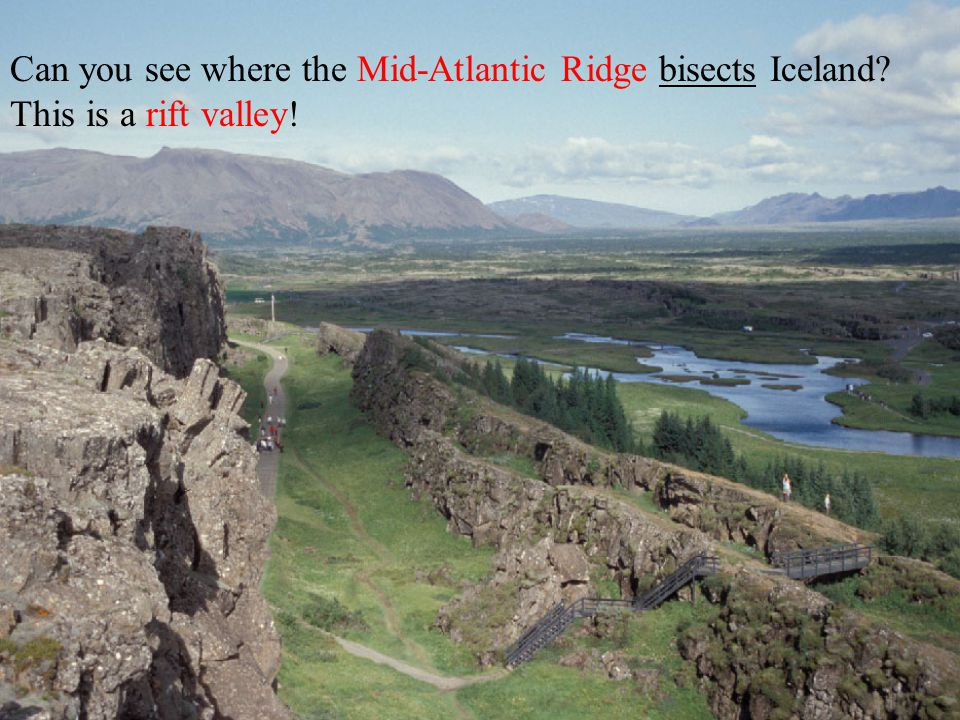 Iceland is spreading open on the Mid- Atlantic Ridge!