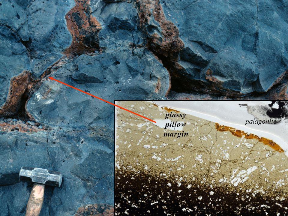 glassy pillow margin palagonite