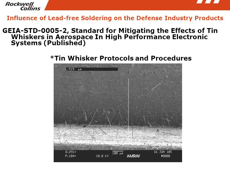 GEIA-STD-0005-2, Standard for Mitigating the Effects of Tin Whiskers in Aerospace In High Performance Electronic Systems (Published) *Tin Whisker Prot