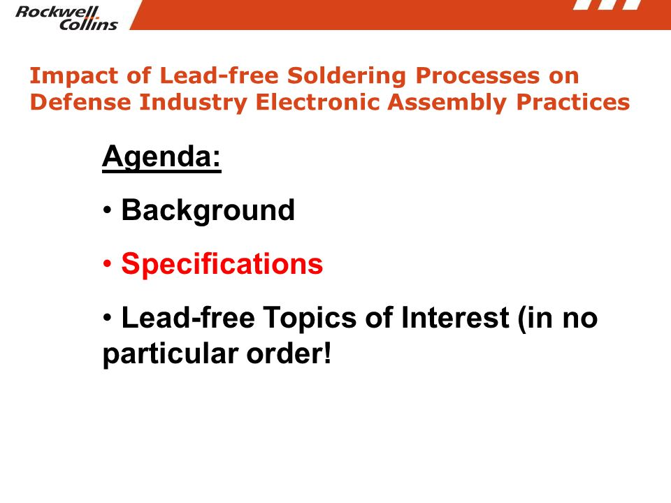 Influence of Lead-free Soldering on the Defense Industry Products: Mixed Metallurgy