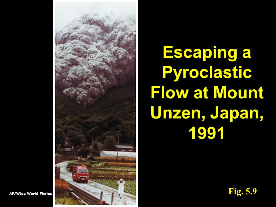 AP/Wide World Photos Fig. 5.9 Escaping a Pyroclastic Flow at Mount Unzen, Japan, 1991