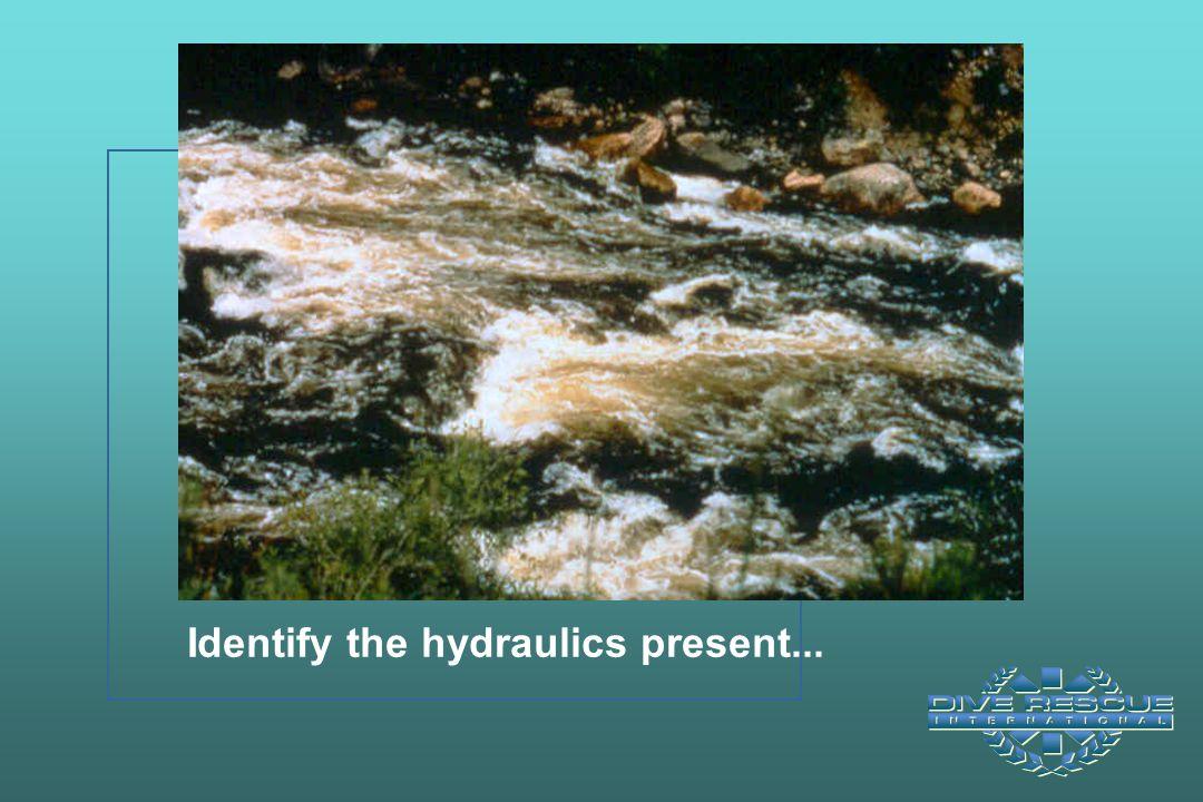 Identify the hydraulics present...