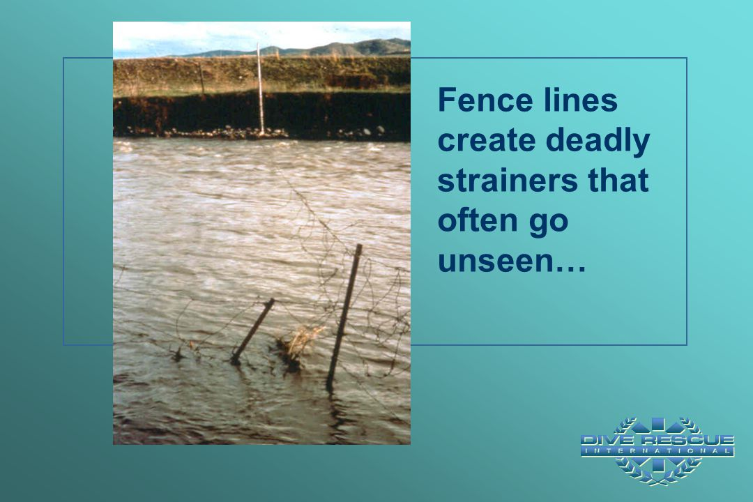 Fence lines create deadly strainers that often go unseen…