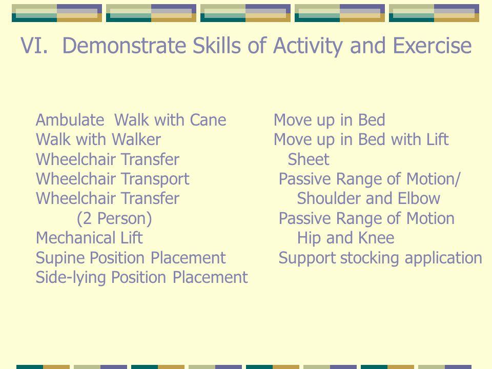 I.Review Body Mechanics/ safety II. Discuss Benefits of exercise III.