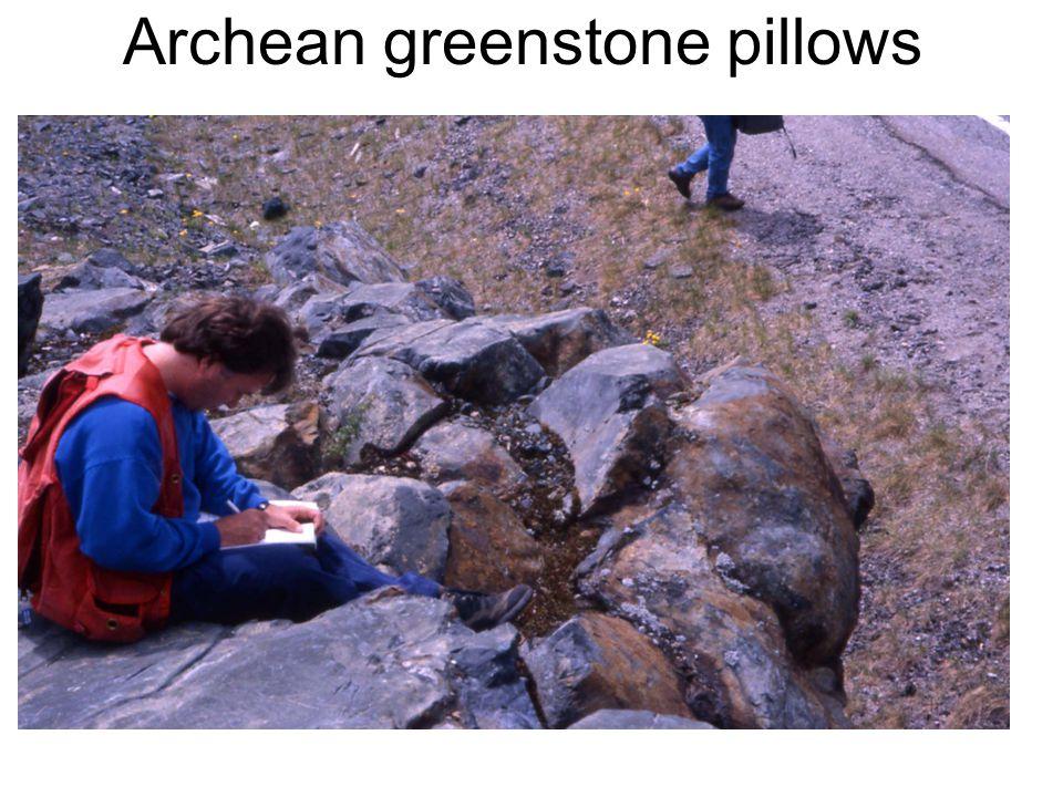 Archean greenstone pillows