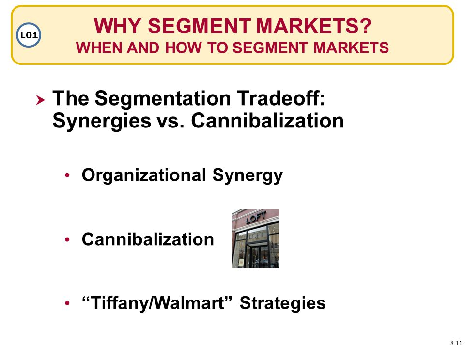 WHY SEGMENT MARKETS. WHEN AND HOW TO SEGMENT MARKETS LO1  The Segmentation Tradeoff: Synergies vs.
