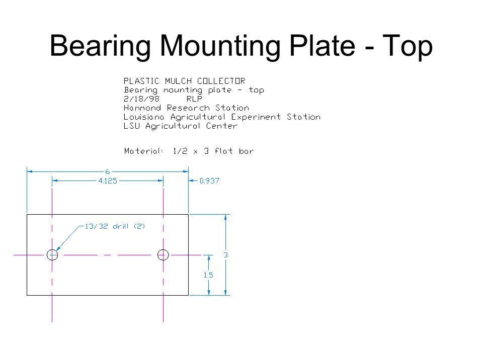 Bearing Mounting Plate - Top