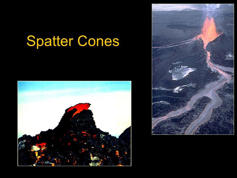 The Summit Common Features: a caldera spatter cones cinder cones