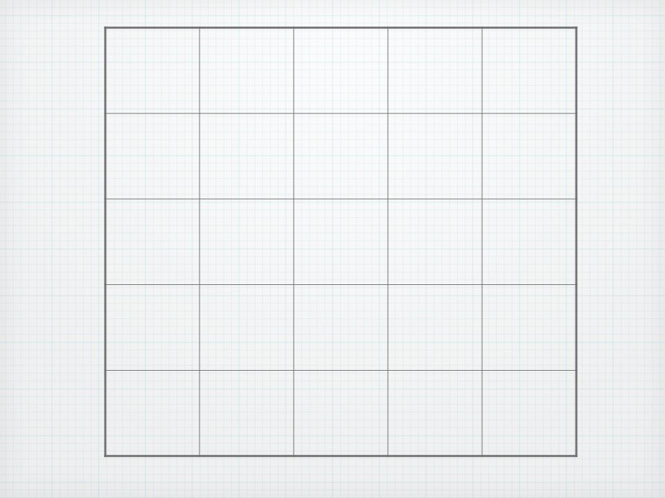 There are 25 1 x 1 squares.