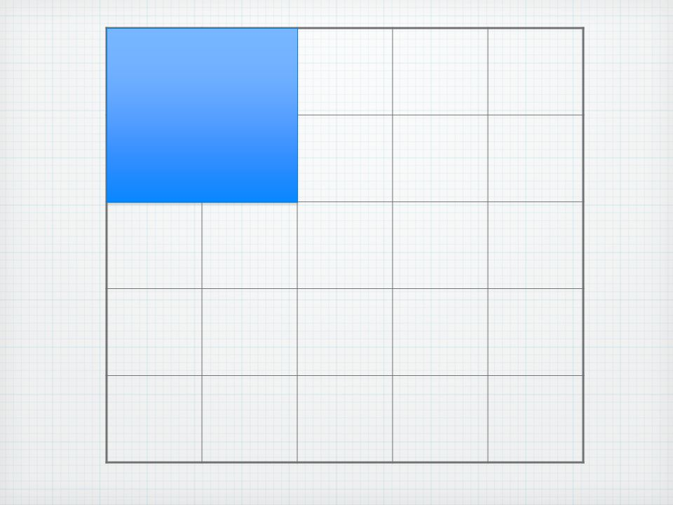 There are 16 2 x 2 squares.