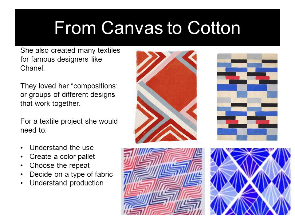 From Canvas to Cotton Right Whale Flamed Box Crab She also created many textiles for famous designers like Chanel.