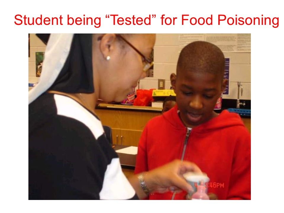 """Student being """"Tested"""" for Food Poisoning"""