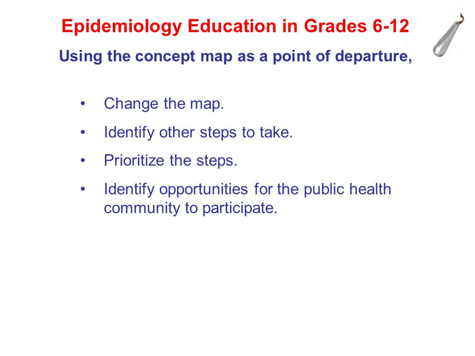 Epidemiology Education in Grades 6-12 Change the map.