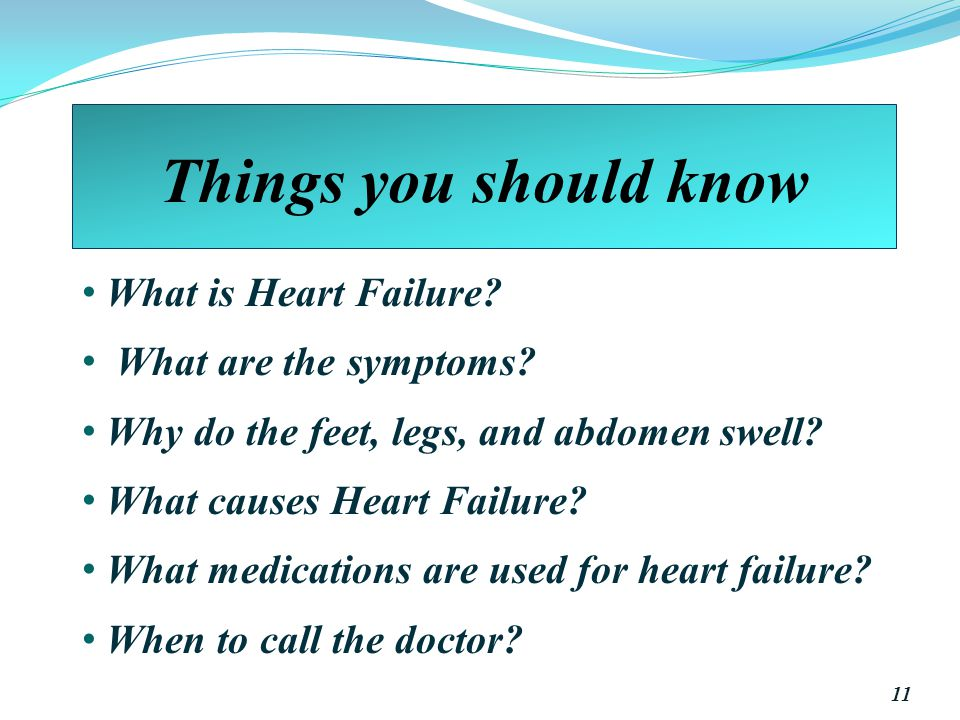 Things you should know What is Heart Failure.What are the symptoms.