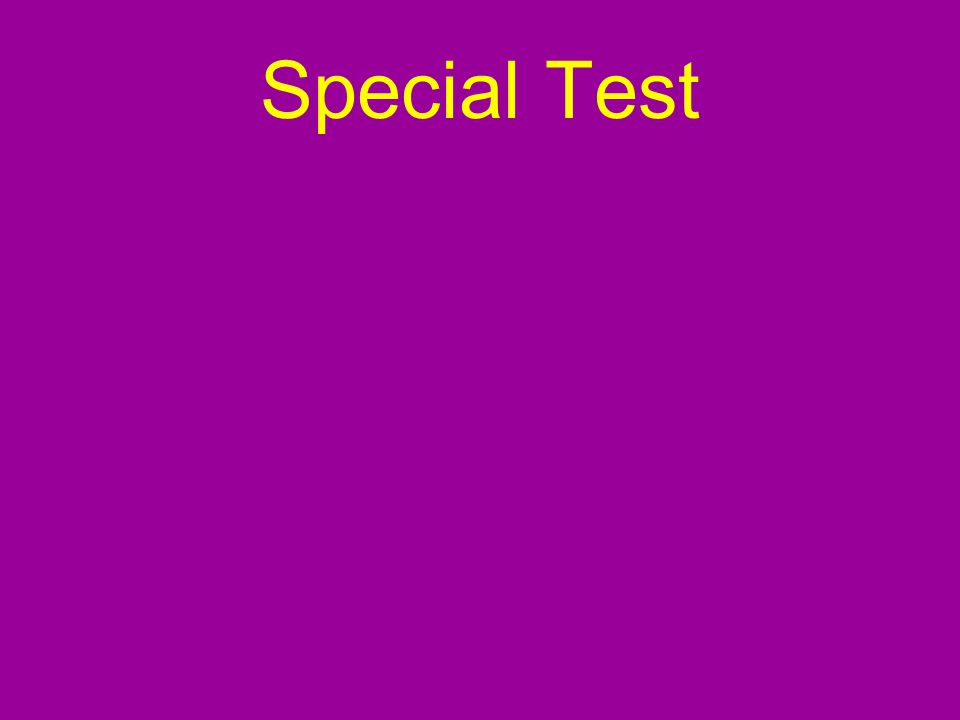 Special Test