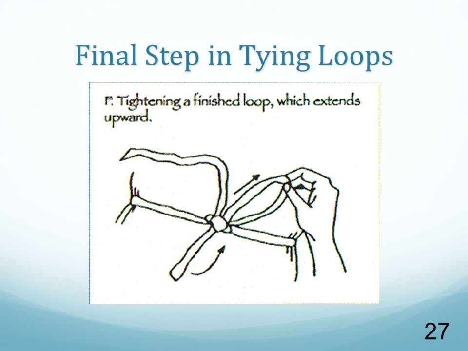 Final Step in Tying Loops 27