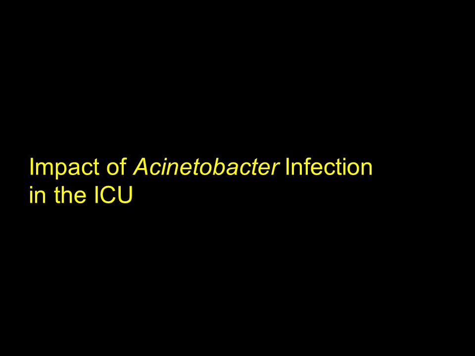 Impact of Acinetobacter Infection in the ICU