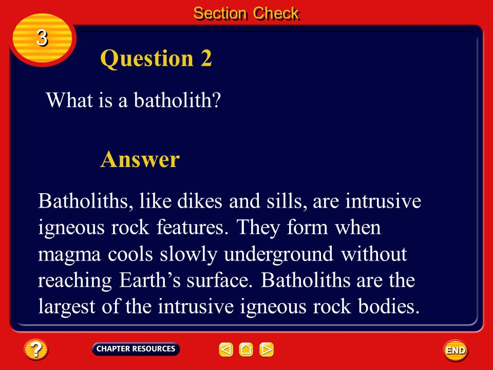 Section Check 3 3 Answer The answer is D. A sill is hardened magma that was forced into a crack parallel to rock layers. Dikes are formed when magma i