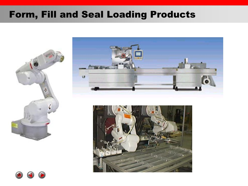 Form, Fill and Seal Loading Products