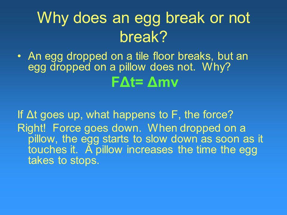 Why does an egg break or not break.
