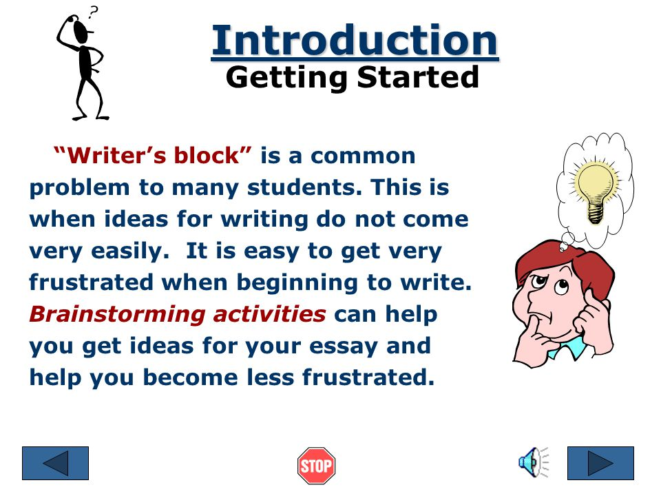 Brainstorming Freewriting 1.Start with the main topic of your essay.
